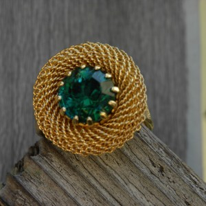 24 K gold single mesh ring