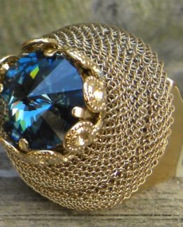 24 K gold Double Mesh Ring